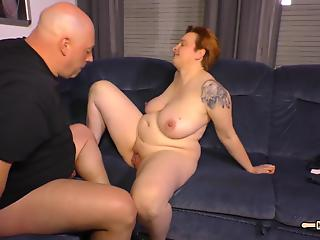 Excited housewife was in mood for nice sex with fat neighbor