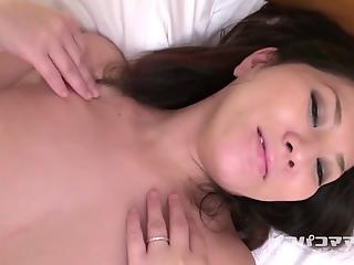 Asian beauty with big boobies gets hardly penetrated from behind