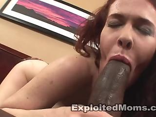 Cheating redhead wife swallows interracial semen after hardcore fuck