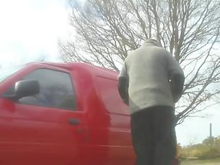 Sweet blonde MILF is getting picked up and nailed hard from behind