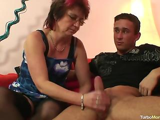 Awesome-looking wife with pierced nipples fucks with a young man