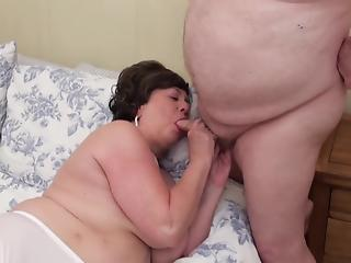 Impressive big-boobed mature gets nicely drilled by a fat fucker