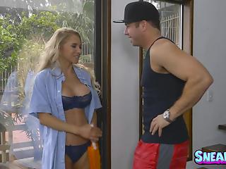 Young man with long boner pounds a sensual big-boobed blonde MILF