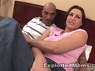 Black fucker gives a hardcore interracial treat for a busty white mom