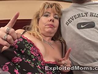 Chubby white MILF bangs with giant black dick for the first time