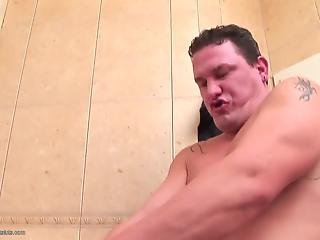 Hardcore face banging in the toilet with a dick-sucking MILF