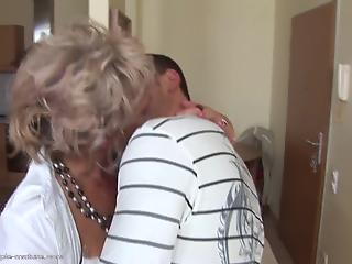 Experienced young man anally drills a cheating housewife in doggy pose
