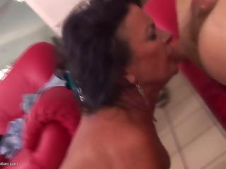 Young cock inside her tight ass is what mature needed in life
