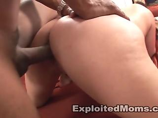 Black guy with big shaft penetrates classy MILF till facial