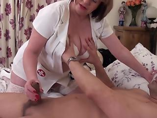 Dirty BBW nurse cures handsome patient with cockriding