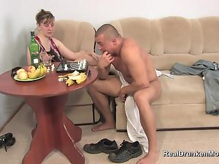 Muscled young man pounds a lustful mature slut in hardcore mode