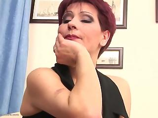 Sweet redhead mom gets nicely fucked by big black sausage