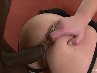 Hardcore interracial porn with a busty housewife and a huge black dong