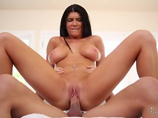 Tattooed mom goddess swallows cum after sensual morning treat