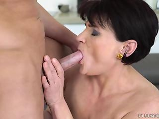 Lusty grandma has awesome sex rendezvous with young lover