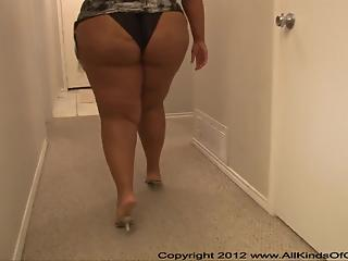 Ebony BBW woman drilled by white partner in hot doggystyle