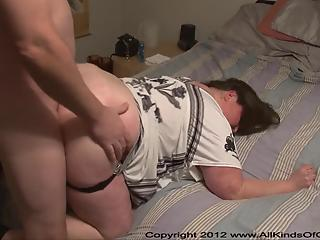 BBW mature slut opens her pussy and gets instantly fucked from behind