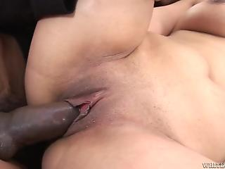 Big-breasted servant girl MILF gets drilled by a BBC